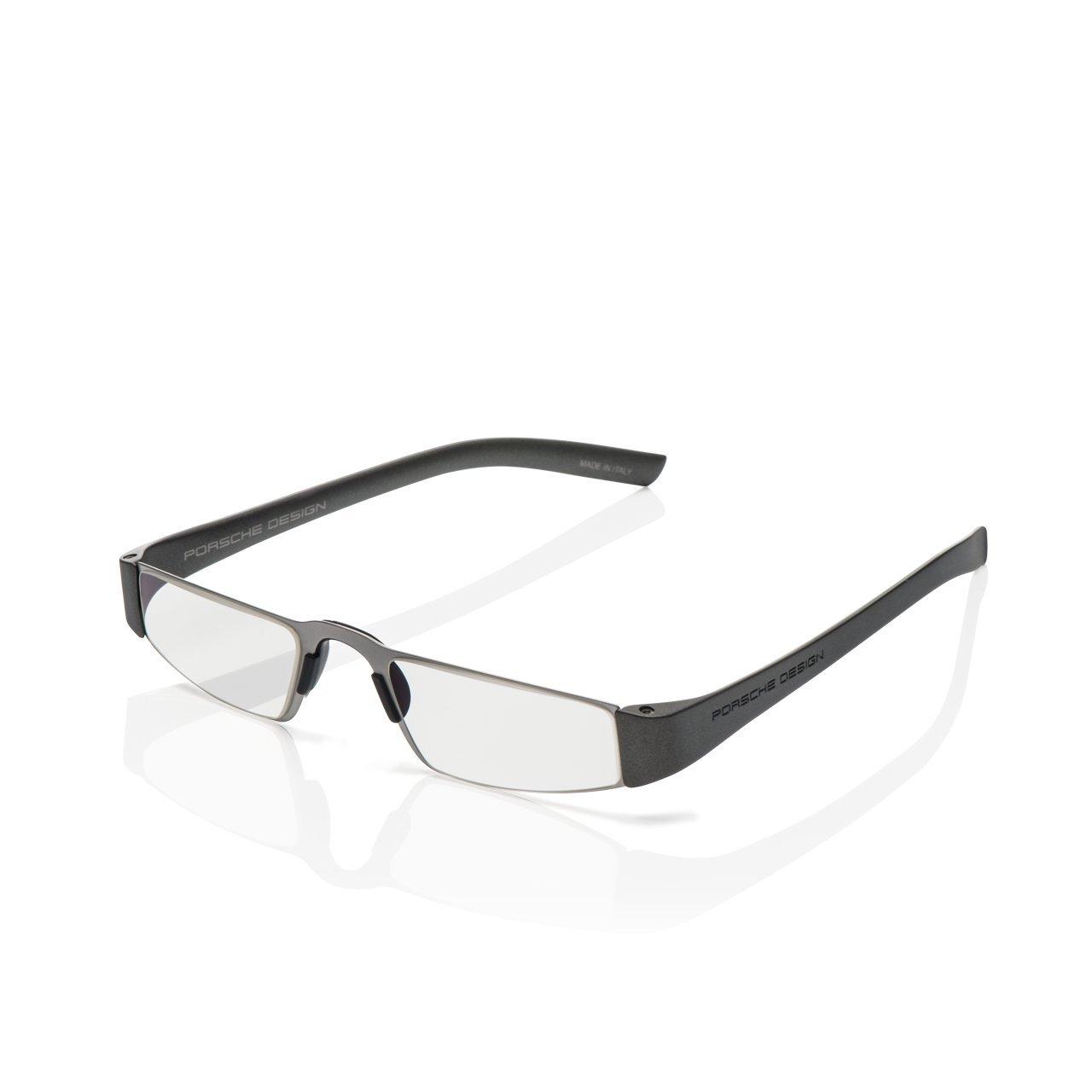 Porsche Design P8801 Eyeglasses 8801 F Men Frame Gun Metal, Silver 48mm,Power +2.50