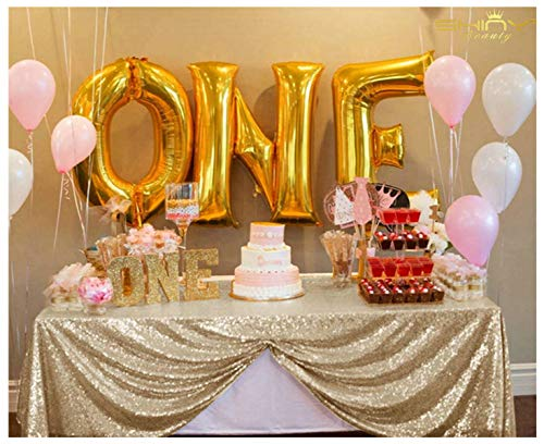 ShiDianYi Sequin Overlay Available-72x72inch (Light Gold) -