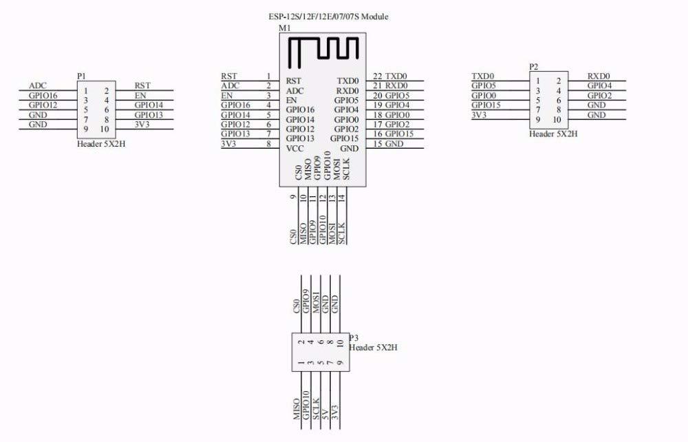 iHaospace ESP8266 Burner Fixture Test Board Minimum System