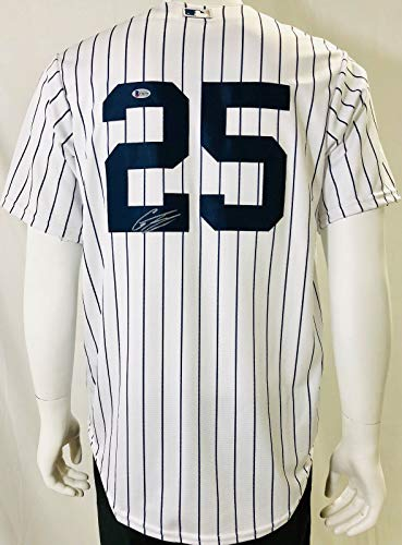 GLEYBER TORRES Signed/Autographed Yankees Home Majestic Cool Base Jersey .Steiner - Majestic Autographed Authentic Jersey Home