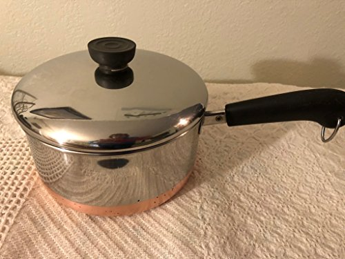 Vtg Revere Ware SS Copper Bottom 2qt Saucepan