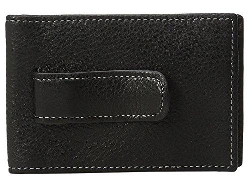 (Johnston & Murphy Men's Two Fold Money Clip Black 1 Wallet)
