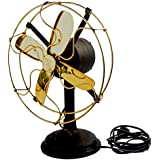 Global Art World Antique Maritime Collectible Home Décor Old Style Functional Electrical Brass Table Fan BF 02