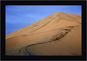 """CA, Death Valley NP, Eureka Sand Dunes by Dennis Flaherty 15"""" x 20"""" Black Framed Canvas Giclee Art Print - Ready to Hang"""