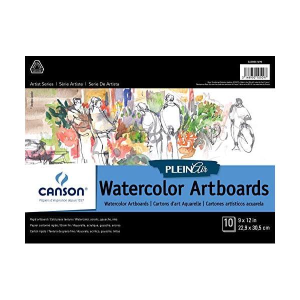 CANSON-400061698-Plein-Air-Art-Board-Pad-watercolor-9X12