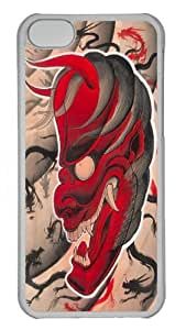 iPhone 5C Case and Cover - Devil Dragons Custom PC Hard Case Cover for iPhone 5C Transparent