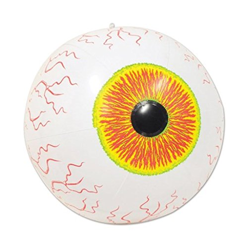 [Inflatable Eyeball Halloween Party Decoration Beach Ball with Hanger] (Shot Doctor Costume)