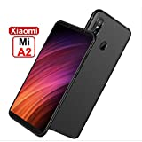 mobistyle Soft Silicone Slim Matte TPU Shockproof Back Case Cover for Xiaomi Redmi A2/Mi A2 (Rich Bllack, xiaomi Mi A2 Tpu)