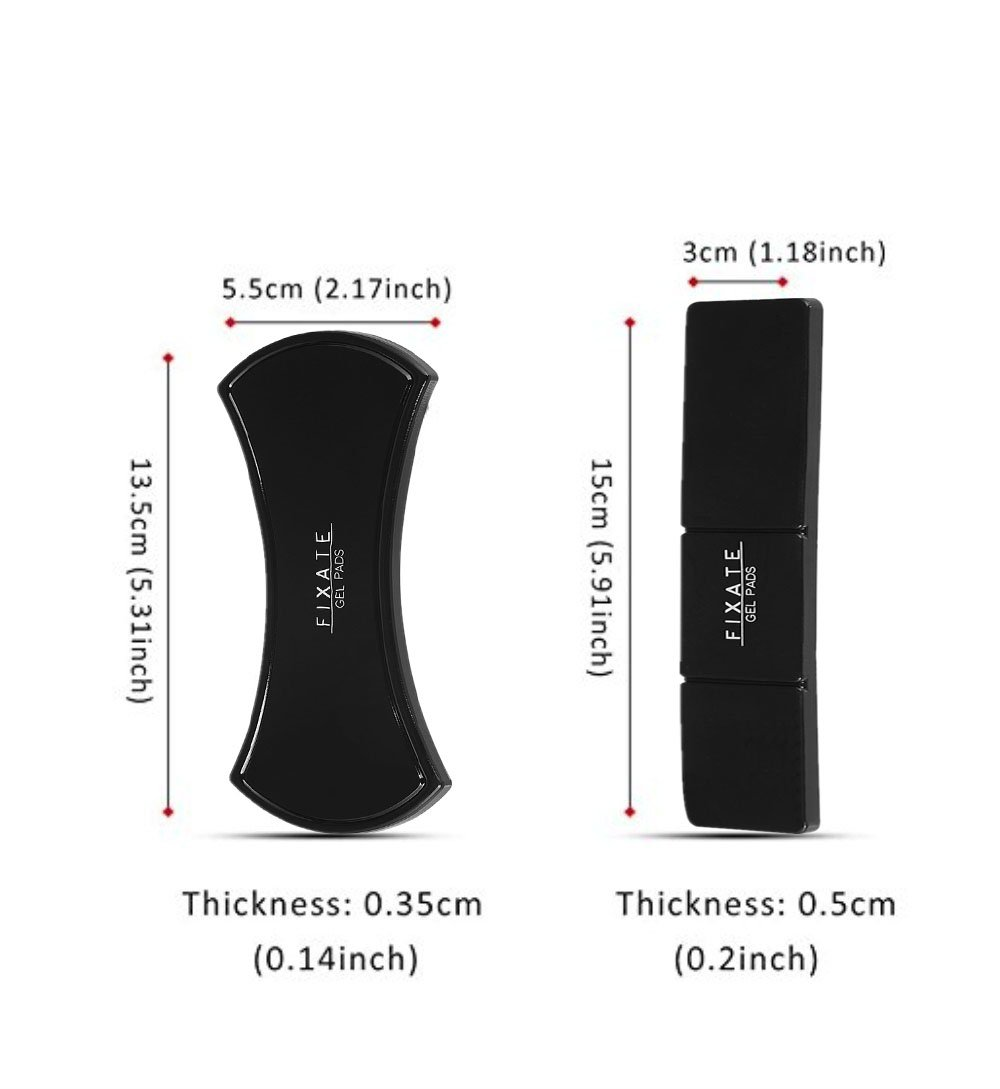 support voiture pour t/él/éphone portable//iPad Flourish Premium Coussinets antid/érapants en caoutcouch /à fixer Noir