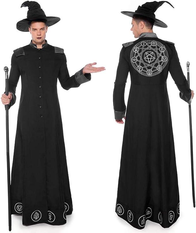 Disfraces de Halloween para Hombres Mágicos Disfraz de Mago Monje ...