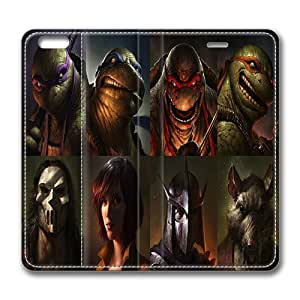iPhone 6 Case, Awesome Tmnt Art iPhone 6 4.7inch Full Body Protector Leather Flip Case Cover, Original Made by PhilipHayes by lolosakes