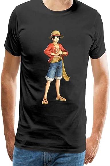 Camiseta para Hombre One Piece Monkey D. Luffy Impresión T Shirt Blusas Camisas Tops: Amazon.es: Ropa y accesorios