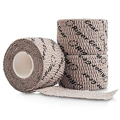 Stretchy Sticky Lifting Athletic Tape - Rigor Gear Flexible Cotton Sports Weightlifting Tape - Premium Finger Tape - Self Adhesive, Use for Boxing, Climbing, Crossfit Tape