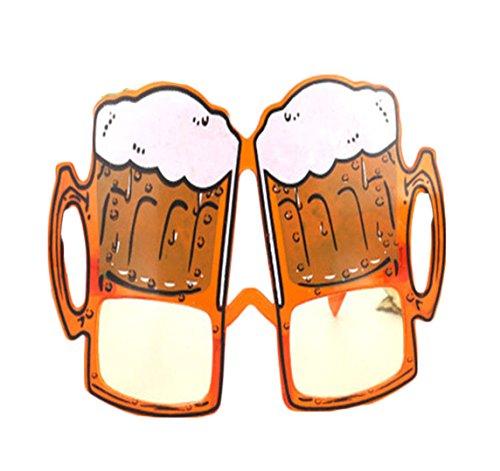 Funny Hawaiians Costume Glasses Hawaii Beach Sunglasses Decorations, Beer - Glass Costume Beer