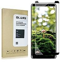 Protector de pantalla Pabrito KKA110224, borde curvo 3D, película de vidrio templado antirrayas y sin burbujas para Galaxy Note8