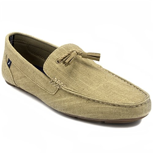 Tan Casual Loafers - Nautica Weldin Men's Casual Tassel Slip-On Driving Penny Loafers Boat Shoes Driver Moccasins-Tan-10