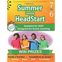 Summer Learning HeadStart, Grade 6 to 7: Fun Activities Plus Math, Reading, and Language Workbooks: Bridge to Success with Common Core Aligned Resources and Workbooks