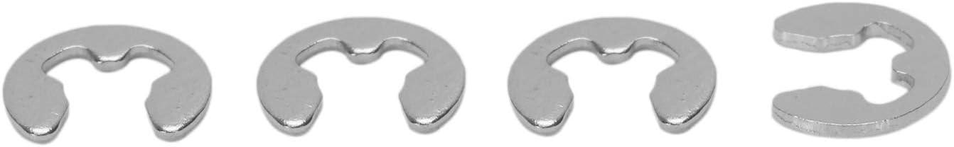 ACAMPTAR Set de Fixation Bagues de Retenue Ext/éRieures Circlip Bague de Retenue E-Clip 3Mm 10 Pi/èCes