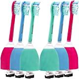 Colourful Replacement Brush Heads for Philips Sonicare E Series Electric Toothbrush HX7022/66, 6 Pack by Toptheway …