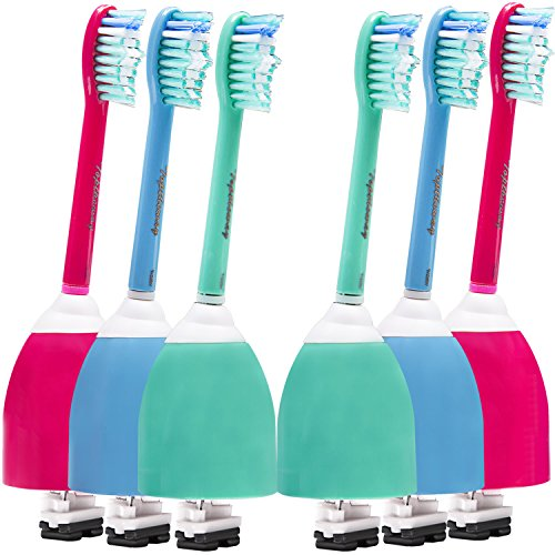 Colourful Sonicare Replacement Brush Heads for Philips Sonicare E Series Electric Toothbrush HX7022/66, 6 Pack by Toptheway …