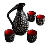 Japanese Style Ceramic Sake Sets Wine Cups Crafts for Japanese Cuisine, D