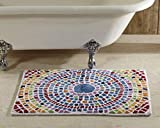 Better Trends / Pan Overseas Picasso Mosaic 100% Cotton Combed Yarn Tufted Bathmat with Hot Melt Latex Backing, 30'' by 48'', Multicolor