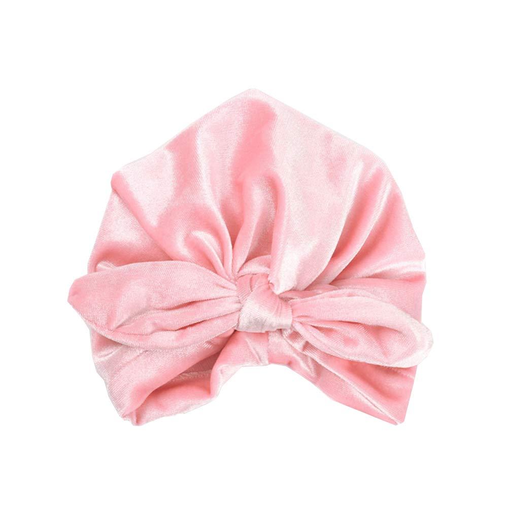 beige Culer Kinderkopfbedeckungen Reversed Turban Kopftuch Hut mit Kapuze Kaninchenohren Verknotete Indian Hut f/ür Baby-Kind