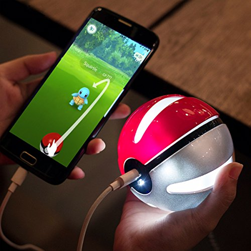 Pokemon GO Power Bank 10000mAh External Battery Charger, Sunmy Ultra Compact Portable Battery Pack With LED Light For for iPhone 6 7 8 plus Samsung S6 S7 S8 and Other Smart phone