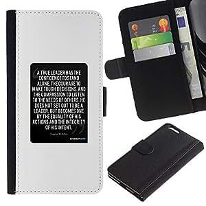iBinBang / Flip Funda de Cuero Case Cover - Texto blanco Cita inspiradora - Apple Iphone 6 PLUS 5.5