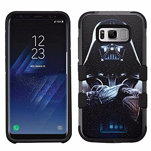 (for Samsung Galaxy S8, Hard+Rubber Dual Layer Hybrid Heavy-Duty Rugged Armor Cover Case - Star Wars Darth Vader)