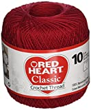 Coats Crochet Red Heart Classic Crochet, Thread Size 10, Victory Red