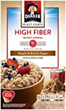 Pack of 4 - Quaker Instant Oatmeal, High Fiber, Select Starts, Maple Brown Sugar, Breakfast Cereal,1.58oz-8 Packets Per Box
