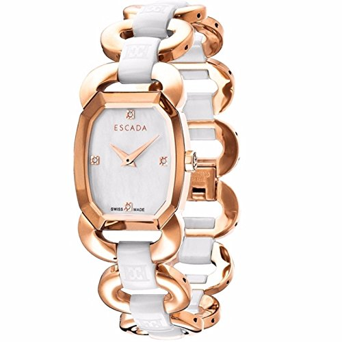 Escada Charlene E2605093 Swiss Quartz Rose Gold Tone Diamond Watch
