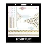 Kitsch Metallic Tattoos, Henna 1, 0.019 Ounce