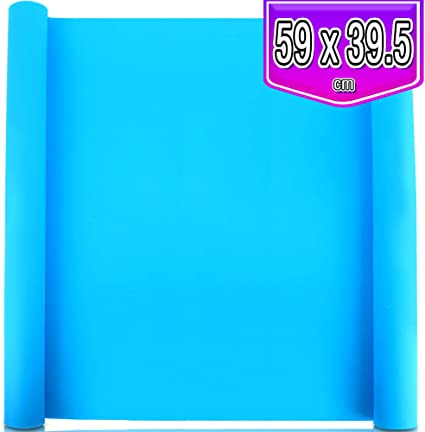Multipurpose Silicone Mats for DIY Crafting Painting 2 Pack 59.5 x 49.5 cm Oversize Silicone Mats for Crafts LEOBRO Thick Nonstick Silicone Craft Mats for Resin Molds Blue /& Green