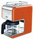 DeLonghi Kmix 5-Cup Drip Coffee Maker, Orange