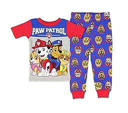Paw Patrol Little Boys\' Squad Leaders Short Sleeve 2 PC Pajama Set (5T)