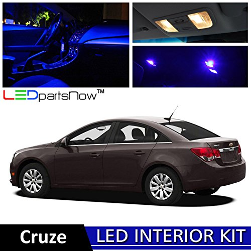 Ledpartsnow 2011 2014 Chevy Cruze Led Interior Lights Accessories Replacement Package Kit 11
