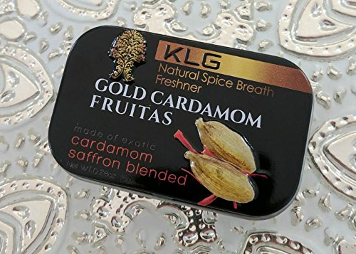 Gold Cardamom Fruitas (8 grams). Vegan, Kosher & Halal. Made in USA.