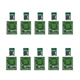 ELSRA 10pcs CC2640R2F BLE 4.2 & 5.0 Bluetooth Low Energy Module BT03-1 w/ DIP adapter PCB