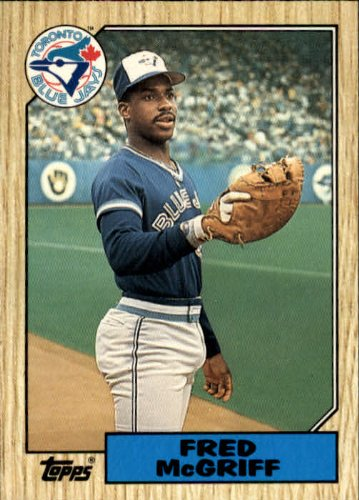 1987 Topps Traded Baseball Card #74T Fred McGriff ()