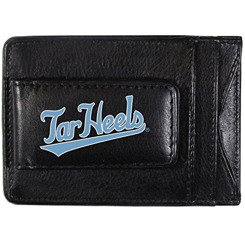 NCAA North Carolina Tar Heels Logo Leather Cash & Cardholder, Black