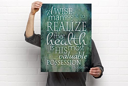 Health is Your Most Valuable Possession Artwork, 18'x24' Vinyl Poster, Chiropractic Art, Clinic Decor by Clinic Artwork 18'x24' Vinyl Poster