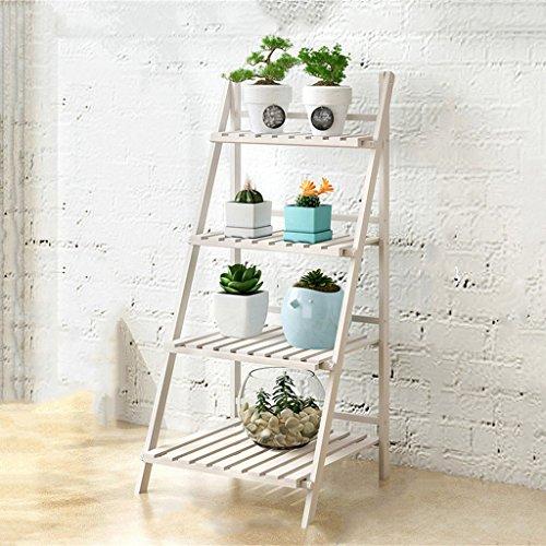 2 Tier Foldable Wooden Flower Display Rack, Indoor Flower Stand, Multifunction Retro Plant Stairs for Garden/Indoor/Outdoor/Balcony Flower Shelves-L50xW48xH114cm