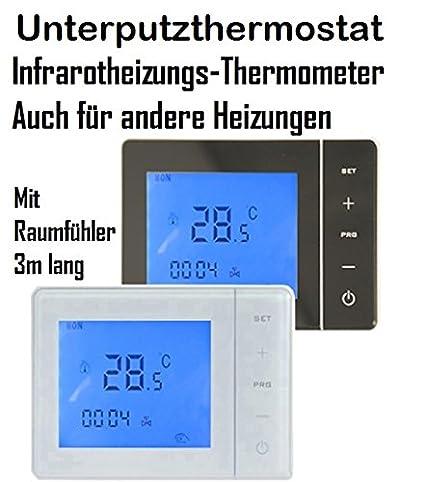 Termómetro digital termostato empotrado con WIFI función de calefacción por infrarrojos, calefactor eléctrico, calefacción
