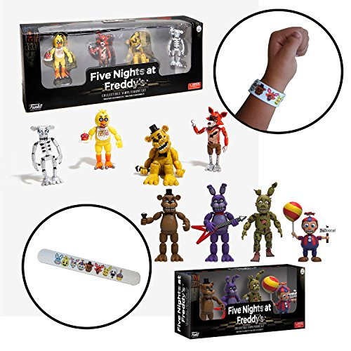 Five Nights at Freddy's Mini Action Figure Toys 2-Pack Set with Bracelet