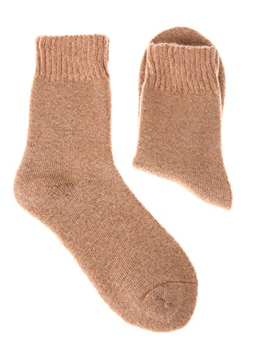 EBMORE Women's Soft Wool Warm Winter Thick Socks - 4 Pack (Solid Color)