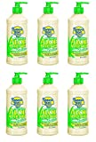 Banana Boat Aloe Vera Sun Burn Relief Sun Care After Sun Lotion, 16 Oz (6 Pack) + FREE Assorted Purse Kit/Cosmetic Bag Bonus Gift