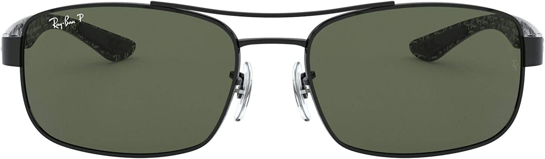 Ray-Ban Sonnenbrille (RB 8316) Noir (Black/Crystal Green Polarized)