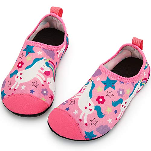 Crova Kids Water Shoes Quick Dry Aqua Socks Non-Slip Barefoot Sports Shoes for Boys Girls Toddler (Sport Shoes For Children)